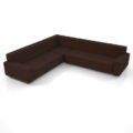 【家具】茶色の コーナーソファのセット【formZ】 sofa_0056