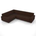 【家具】茶色の コーナーソファのセット【formZ】 sofa_0057