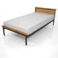 【家具】シングルサイズのベッド【formZ】 bed_0001